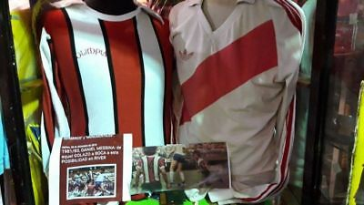 AUTHENTIC VINTAGE 1981 RIVER PLATE SOCCER ARGENTINA 0limpia SHIRT JERSEY #16