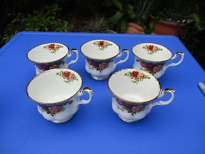 Awesome 5 Royal Albert Cups  -  Tea / Hobby / For Art Project