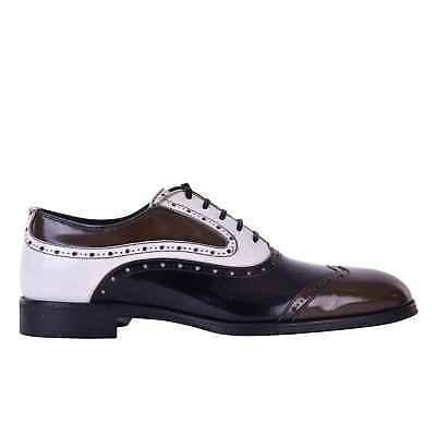 DOLCE   GABBANA Brogues Business Formal Shoes ROMA Black White Brown 05886 ce6b0841777