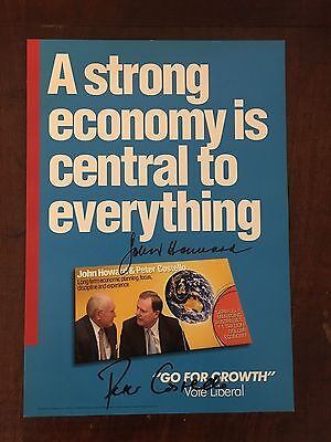2007 Election - Prime Minister John Howard & P Costello signed Campaign Poster