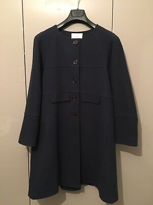 Seraphine Maternity Coat Navy Cashmere Blend Size 10