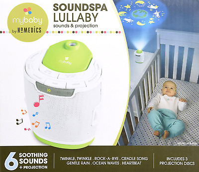 Baby Relaxing Sleep Soundspa Lullaby Natural Soothing Sound Machine Projector