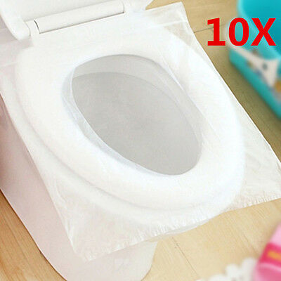 1Pack/10Pcs Disposable Paper Toilet Seat Cover' For Camping Travel Sanitary