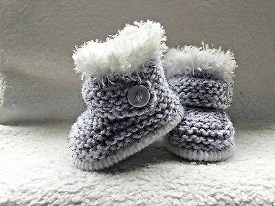 ⭐️ Hand Knitted Baby Booties Bootees Unisex Newborn ⭐️
