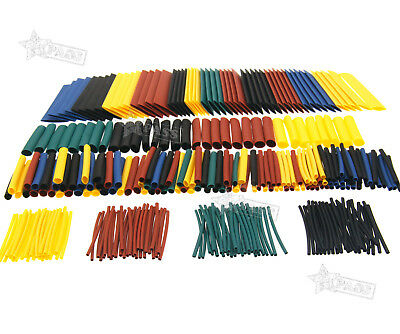 328Pcs 8 Size Car Assorted Electrical Cable Heat Shrink Tube Tubing Wrap Sleeve