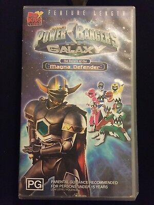 Power Rangers Lost Galaxy The Return Of The Magna Defender ...Power Rangers Lost Galaxy Magna Defender Vhs