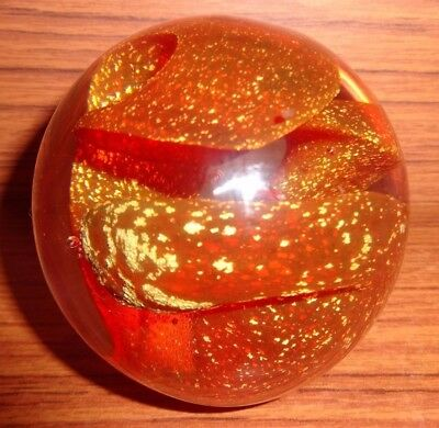Rare Signed Large  ISLE OF WIGHT GLASS PAPERWEIGHT by KEITH POLLARD 1989