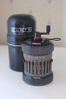 ♕♕♕ RARE - Early CURTA Calculator TYPE II #516238 - Near MINT Cond. - 1960 ♕♕♕