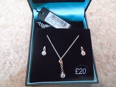 """""""Simply Silver"""" branded - earring and pendant set - brand new in box"""