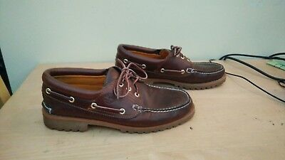 Timberland brown leather boat shoes size uk 9