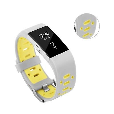 (Gray-Yellow) - Fitbit Charge 2 Band, BeneStellar Special Design Replacement