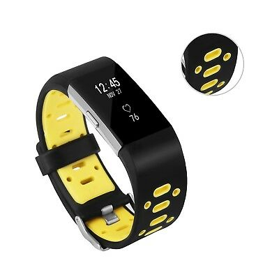 (Black-Yellow) - Fitbit Charge 2 Band, BeneStellar Special Design Replacement
