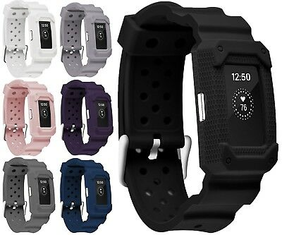 (Black2) - Greatfine Fitness Smart Watch Bracelet Strap Band for Fitbit Charge