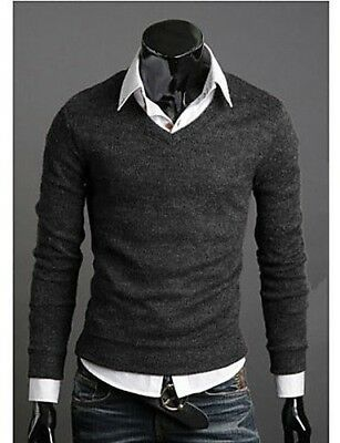(Grey, X-Large) - CU@EY New Fashion Best Selling Spring Multi-Colour Sweater