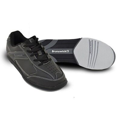 (US 12, UK 10.5, Black) - Brunswick Men's Flyer Bowling Shoes. Shipping Included