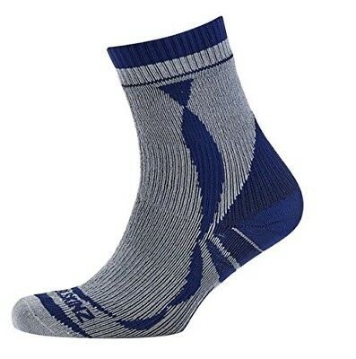 (X-Large, Grey/Blue) - Sealskinz Thin Ankle Sock. Delivery is Free