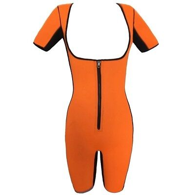 (Orange, UK M=Tag L) - Women's Neoprene Slimming Body Shapewear Bodysuit
