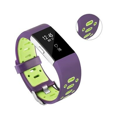 (Purple-Green) - Fitbit Charge 2 Band, BeneStellar Special Design Replacement
