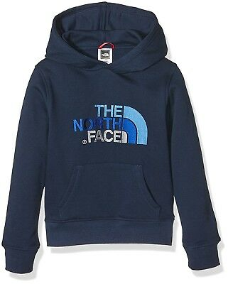 (Large, Blue/Cosmic Blue) - The North Face Children's Drew Peak Pullover Hoodie