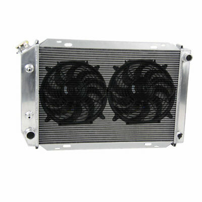 "3Row Alloy Radiator & 2x12""Fans fit Ford Mustang & Thunderbird All Engines 79-93"