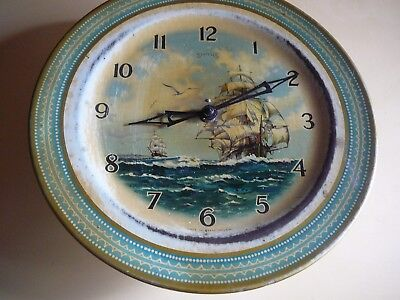 Collectable Vintage Smiths  Ship Wall Clock Made In Gt Britain Boats