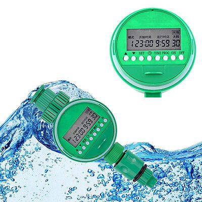 Water Timing Timer Irrigation Controller Automatic Sprinkler Home Garden green