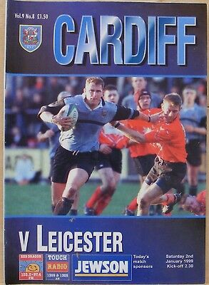 Cardiff V Leicester. January 1999.
