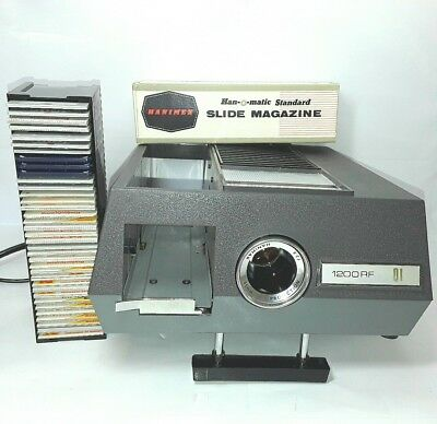 Hanimex Rondette slide projector with slides Vintage Old Retro  AS IS