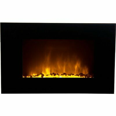 Warm House OWF-10303 Oslo Wall-Mounted LED Fireplace with Color