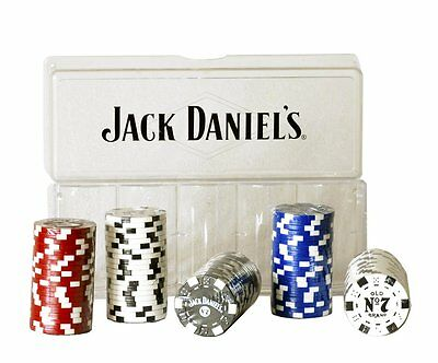 Jack Daniel's 100 Pc Clay Poker Chip Set