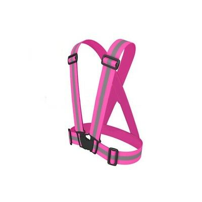 (Rose) - Encell Reflective Vest Adjustable Runing Walking Cycling Hiking