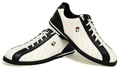 (- White-Black, 46 (US 14)) - 3G Kicks Bowling Shoes for Men or Women Left and