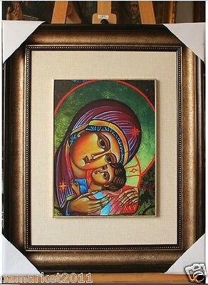 Catholic Church Portrait Jesus Cross Christian Blessed Cloth Frame Pretty Gift X