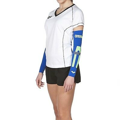 (XX-Small, Electric Blue) - Arena unisex Carbon Compression Arm Sleeves