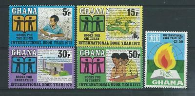 Ghana SG630-634 1972 International Book Year Unhinged Mint