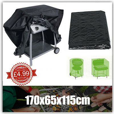 170x65x115 Waterproof Garden Barbecue Cover Outdoor BBQ Storage Cover Protector