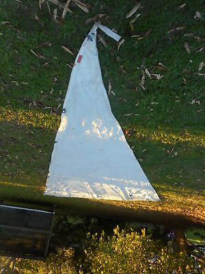 JIB SAIL-Luff: 6.00-Foot: 3.50-Leech:4.90with clips-GD.Condition & Clean