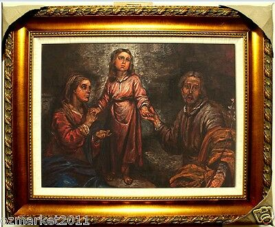 Catholic Church Portrait Jesus Cross Christian Blessed Wooden Frame Decoration