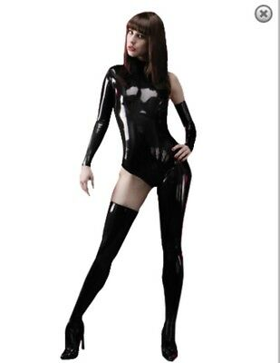 Catsuit TBE Latex Asymétrique Demi-monde De Libidex - Blanc
