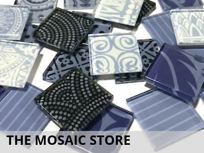 Violet Mixed Handmade Patterned Tiles - Mosaic Art Craft Tiles Supplies