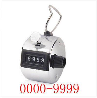 Hand Tally Counter Clicker Lap Head Count 4 Digit Metal