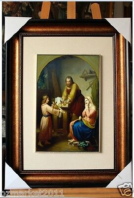 Catholic Church Portrait Jesus Cross Christian Blessed Cloth Frame Pretty Gift S