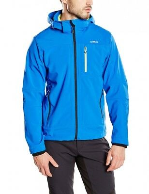 (58, blue - Royal-Lime Green) - CMP Men's Softshell Jacket. Free Delivery