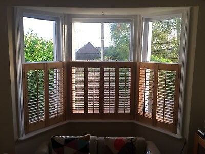 Wooden Cafe Window Shutters Natural Finish - Collection Only SE Kent