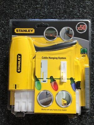 Stanley Heavy Duty Staple Gun Stapler Tacker With Staples Upholstery Xmas