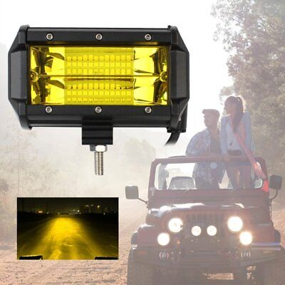 "5"" 72W LED Work Light Bar Off Road Vehicle Searchlight Lamp yellow spotlight P6"