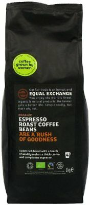 Equal Exchange Espresso Roast Organic Whole Bean Coffee 1 kg