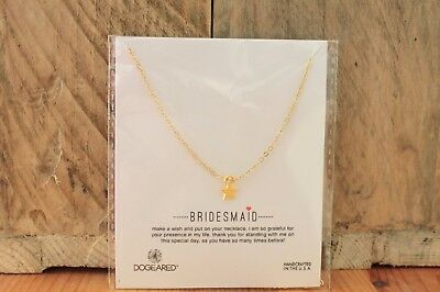 Bridesmaid Thank You Necklace With Gold Star Wedding Gift