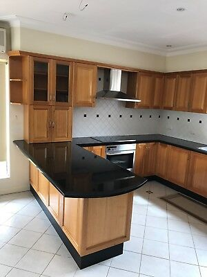 Complete Timber Kitchen, Granite Benchtop And Miele Appliances