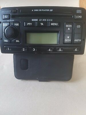 Ford 6006E 6 Disc CD Radio Stereo with Code Mondeo Fiesta Focus